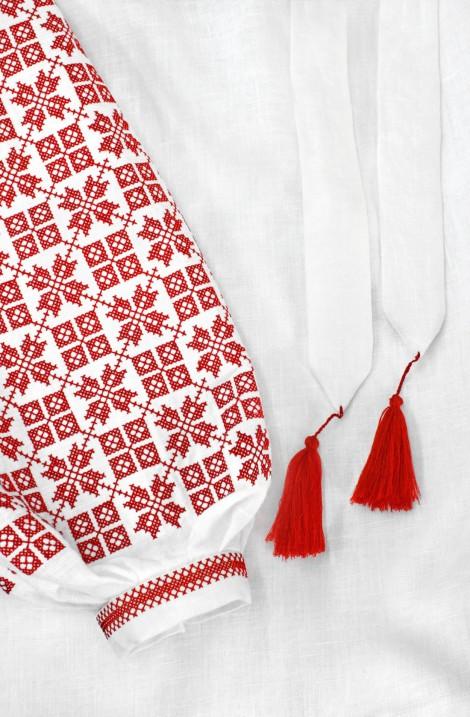"""Туніка з вишивкою """"Червоні Зорі"""" з льону"""