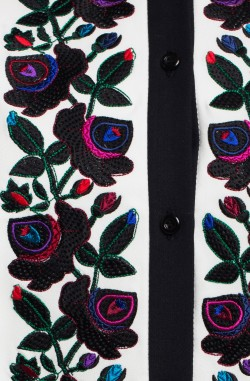 "Blouse with embroidery ""Cherry Garden"""