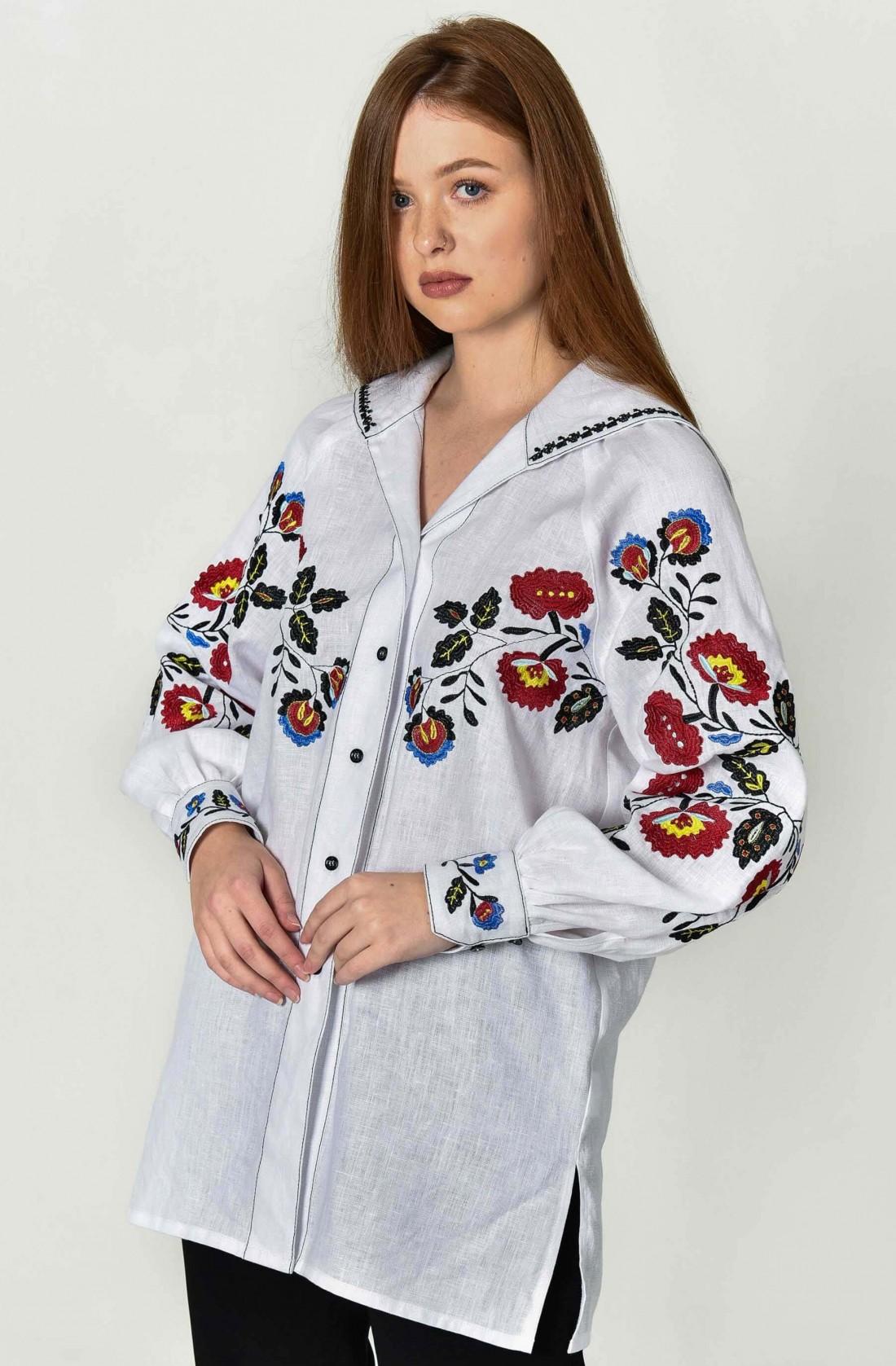 Біла вишита сорочка на хлопчика – купити в інтернет магазині 0942724baf6e1