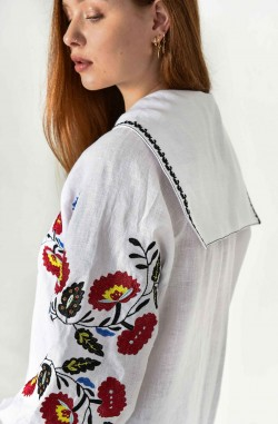 Embroidered shirt and Embroidered dress