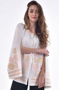 "Blouse with embroidery ""Flowers Dawn"""