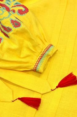 """Сукня-вишиванка """"Цвіт Папороті"""" з льону"""