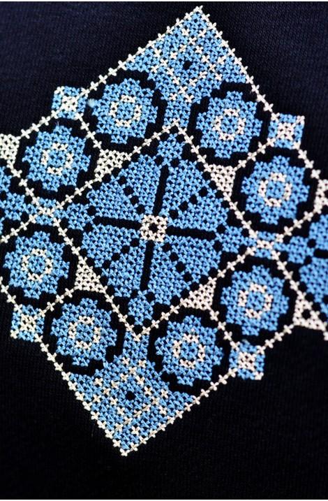 Світшот з вишитим орнаментом з льону