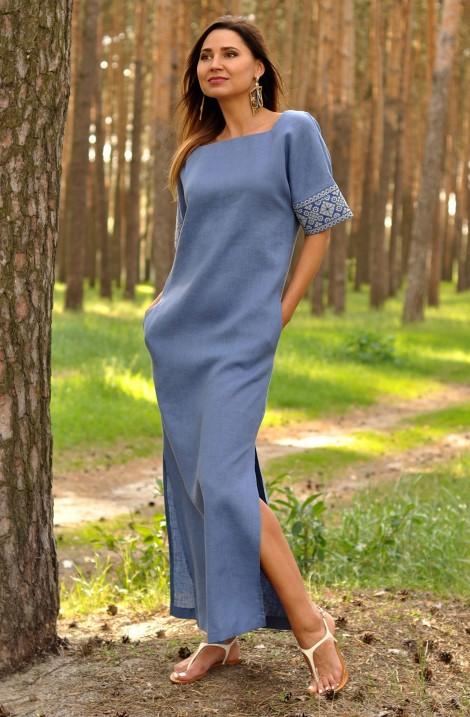 Сукня-вишиванка з льону