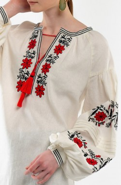 "Blouse with embroidery ""Cornflower Whirlpool"""