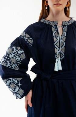 """Dress with embroidery """"Constellation of Happiness"""""""
