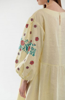 "Dress with embroidery ""Airy fantasy"""