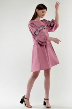 """Платье-вышиванка """"Цвет Папороти"""""""