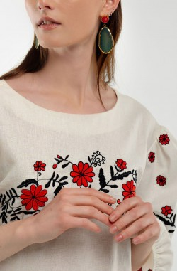 """Dress with embroidery """"Airy fantasy"""""""