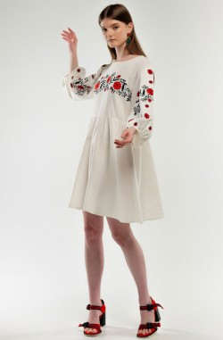 "Dress with embroidery ""The sun of Trypillya"""