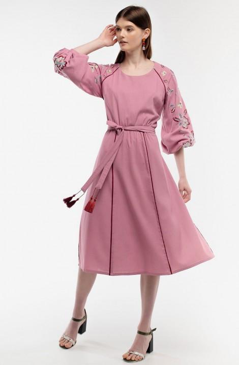 """Платье-вышиванка """"Диво Дерево"""" бархатное"""