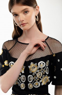 "Dress with embroidery ""Constellation of Happiness"""