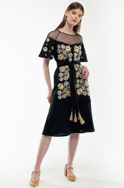 "Dress with embroidery ""Miracle Tree"""
