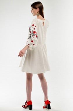 """Embroidered dress """"Spring Beauty"""""""