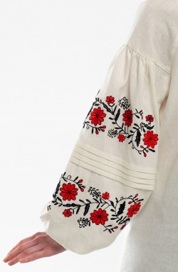 "Dress with embroidery ""Flower Nymph"""