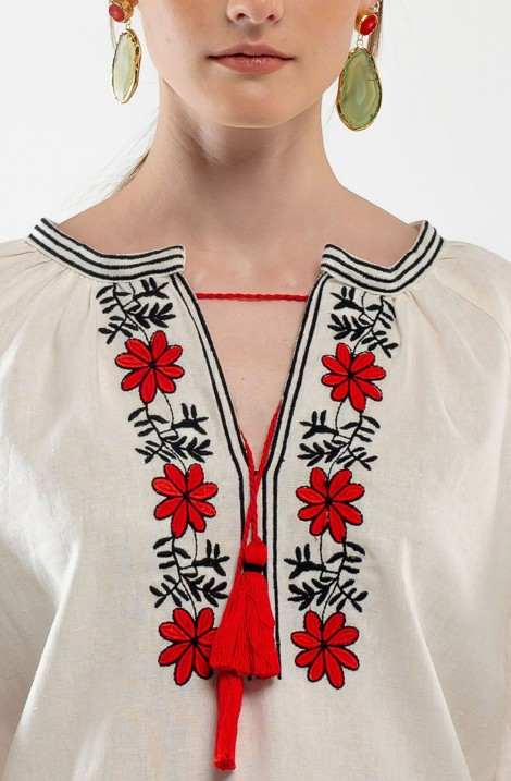 "Embroidered blouse ""Crystal Roses"""